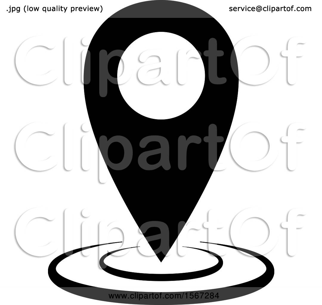 clipart of a black and white location icon royalty free vector illustration by dero 1567284 clipart of