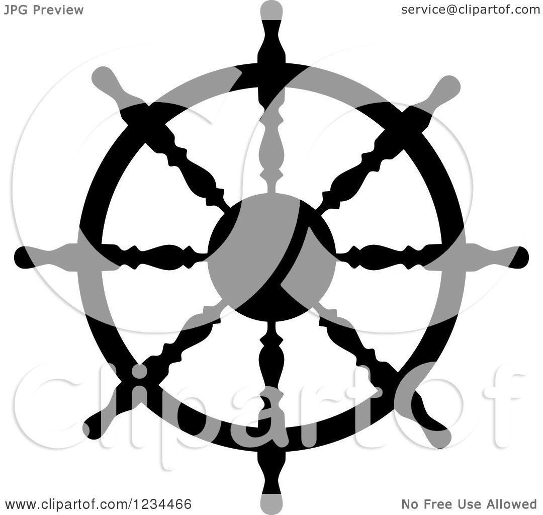 Ship Steering Wheel Clip Art On Stock Vector (Royalty Free) 527263981