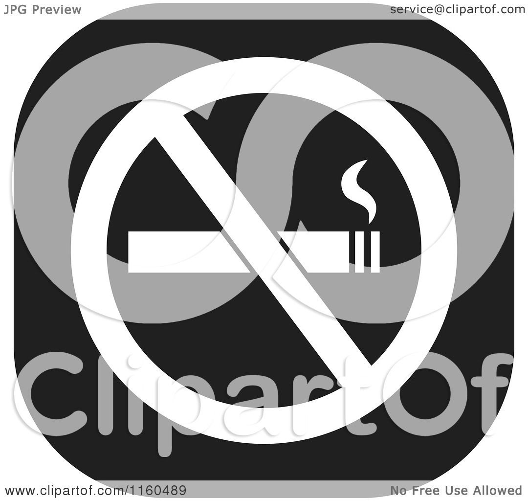 Clipart of a black and white no smoking icon royalty for Free clipart no copyright