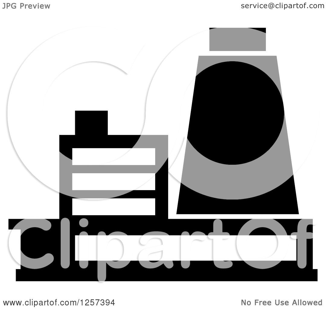 clipart of a black and white nuclear power plant royalty free rh clipartof com electricity power plant clipart free clipart power plant