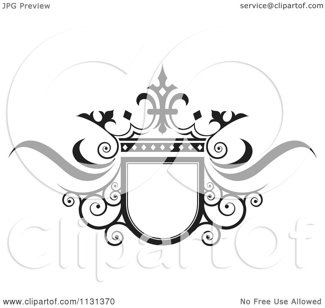Wedding Hair Style Black Vector Art: Clipart Of A Black And White Ornate Wedding Crown And