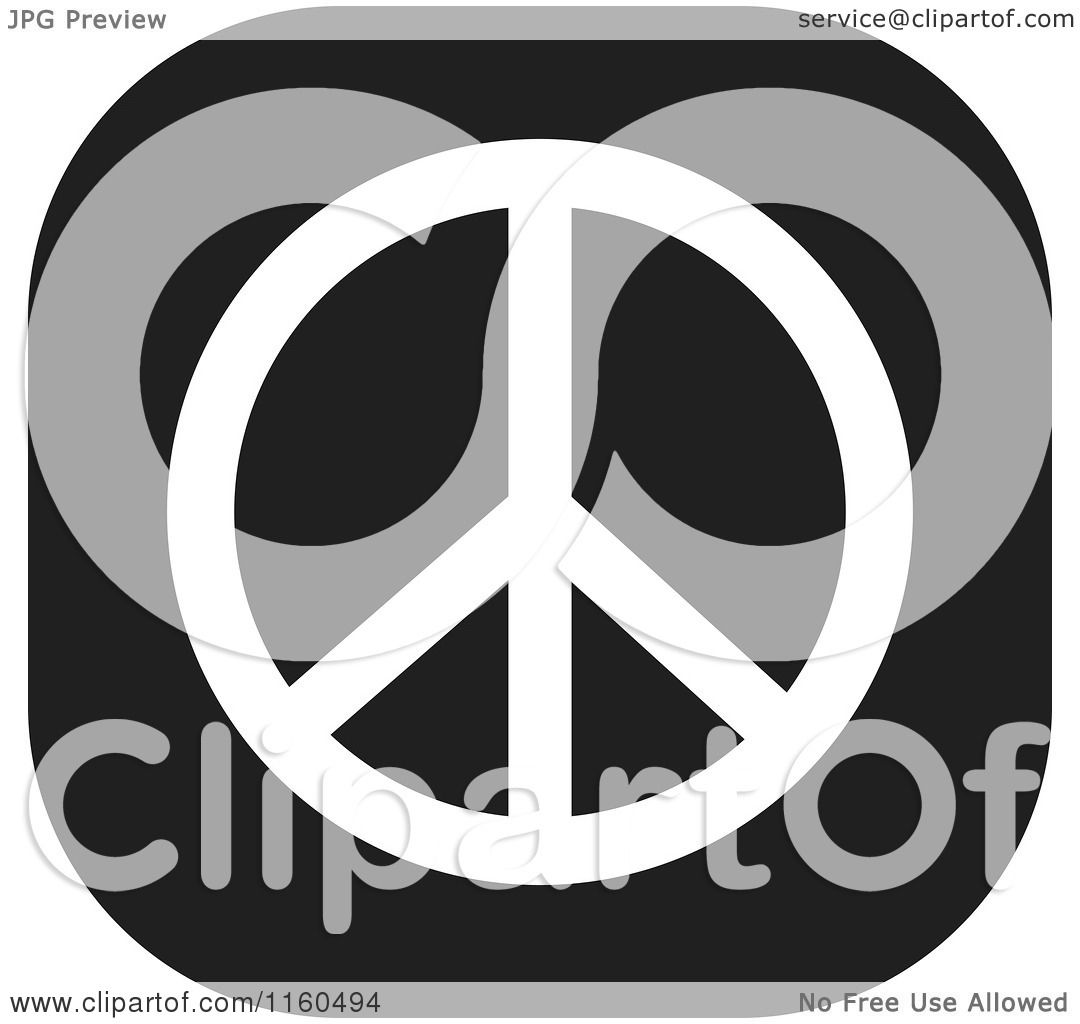 Clipart of a black and white peace symbol icon royalty free vector clipart of a black and white peace symbol icon royalty free vector illustration by johnny sajem buycottarizona Image collections