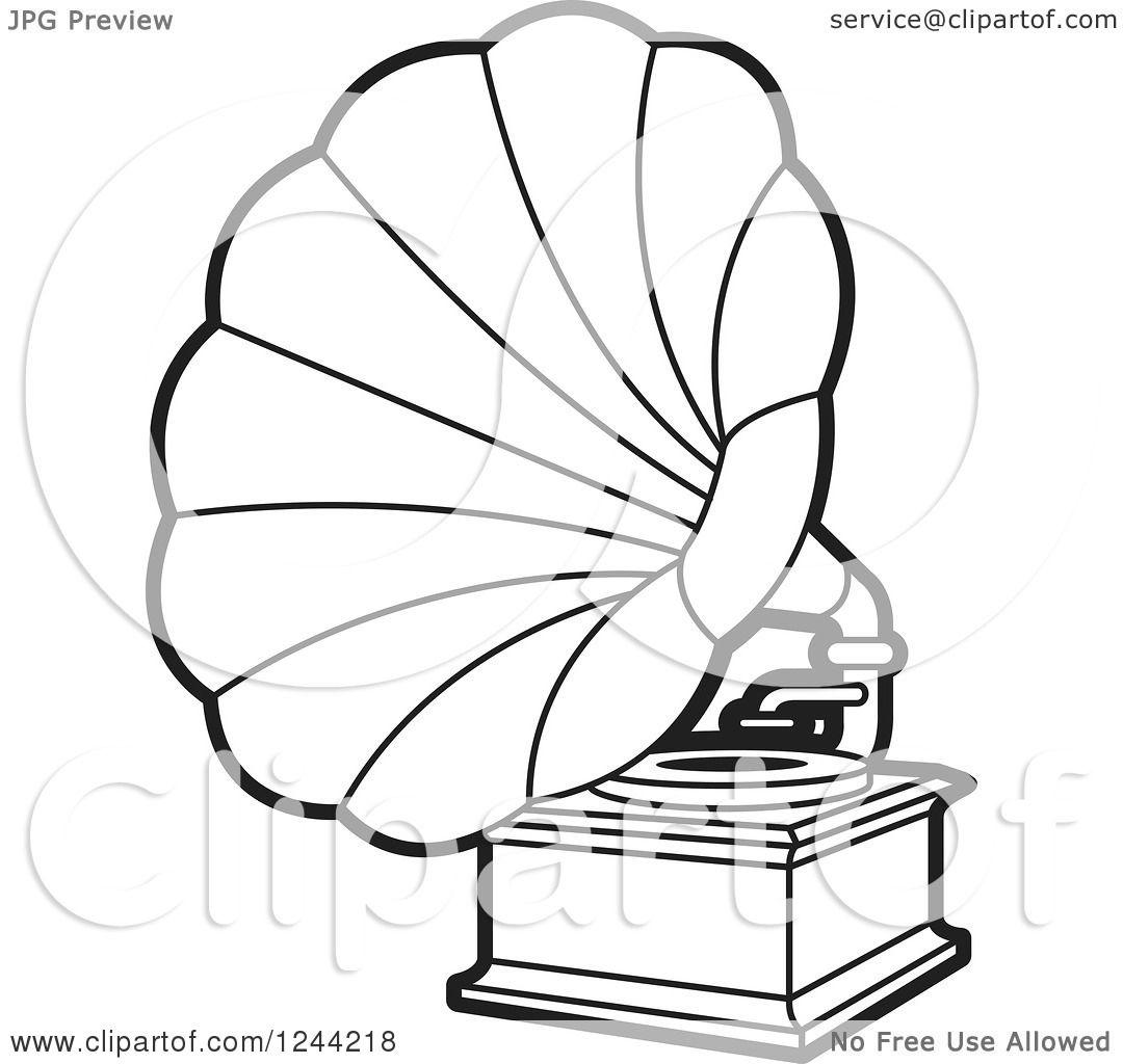 Gramophone Drawing