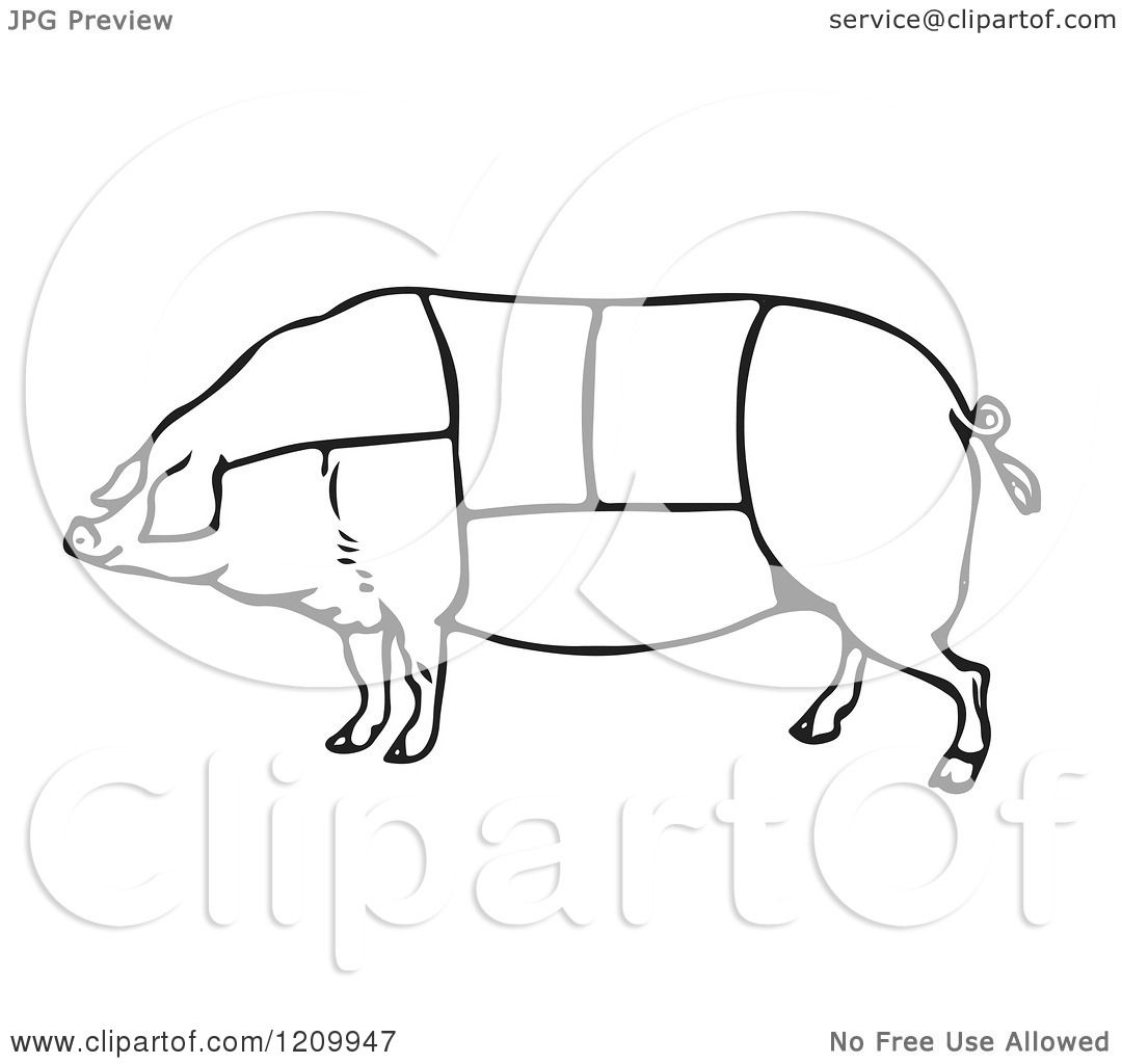 cut meat Colouring Pages