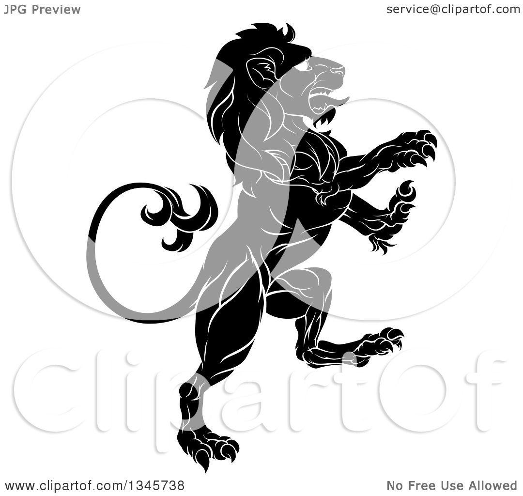 Lion rampant silhouette