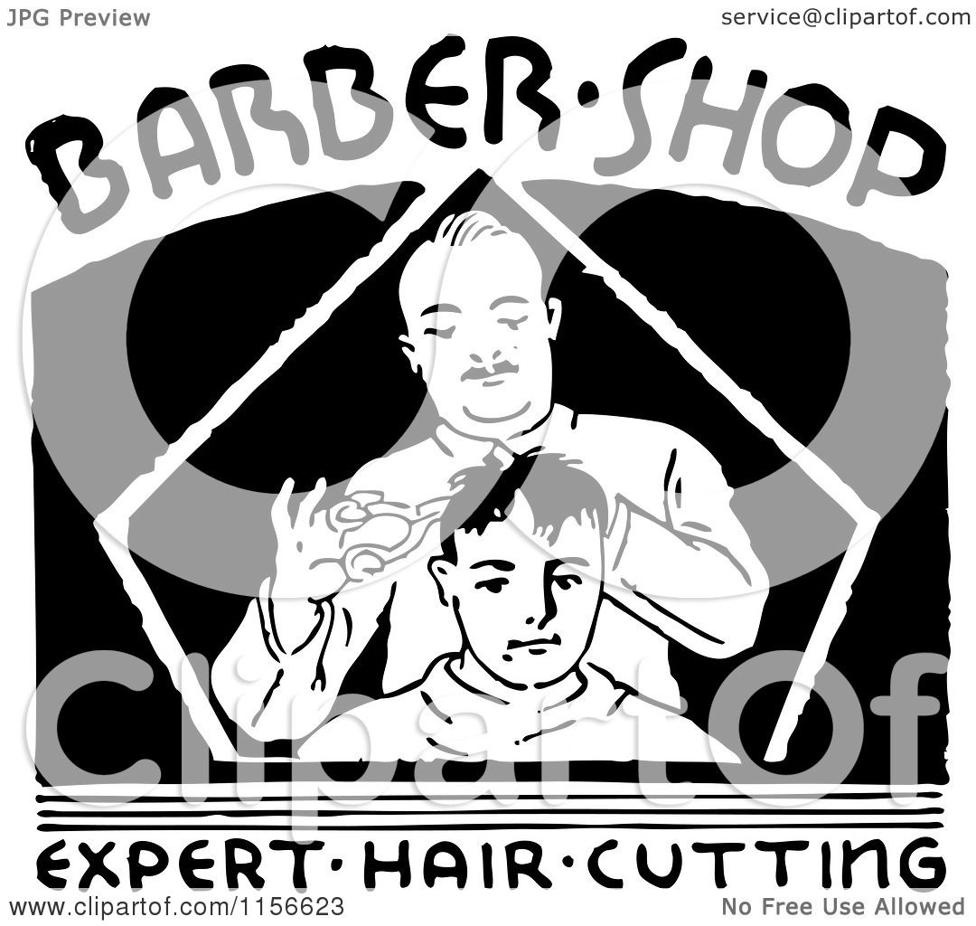 Barber Clipart Clipart of a Black and White