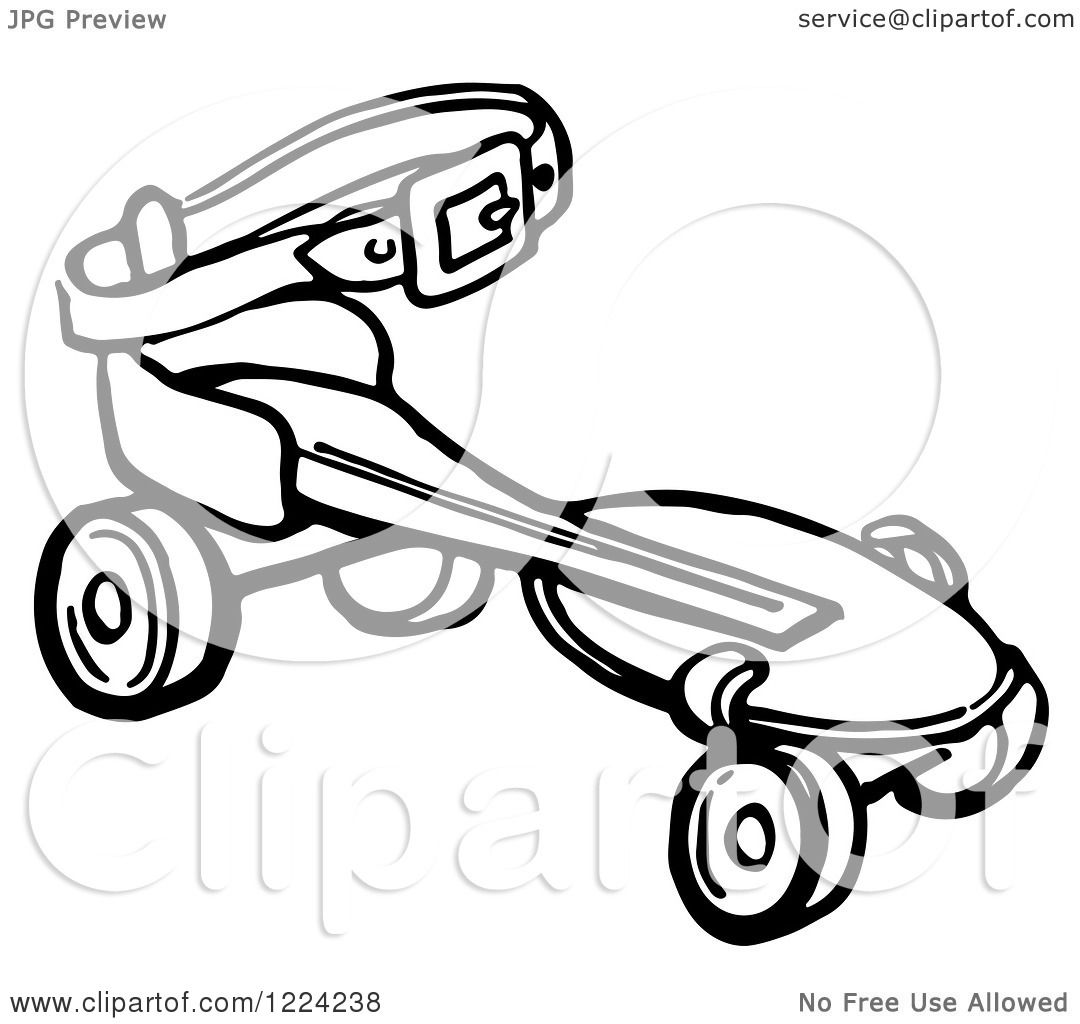 clipart of a black and white retro roller skate royalty free vector illustration by picsburg. Black Bedroom Furniture Sets. Home Design Ideas
