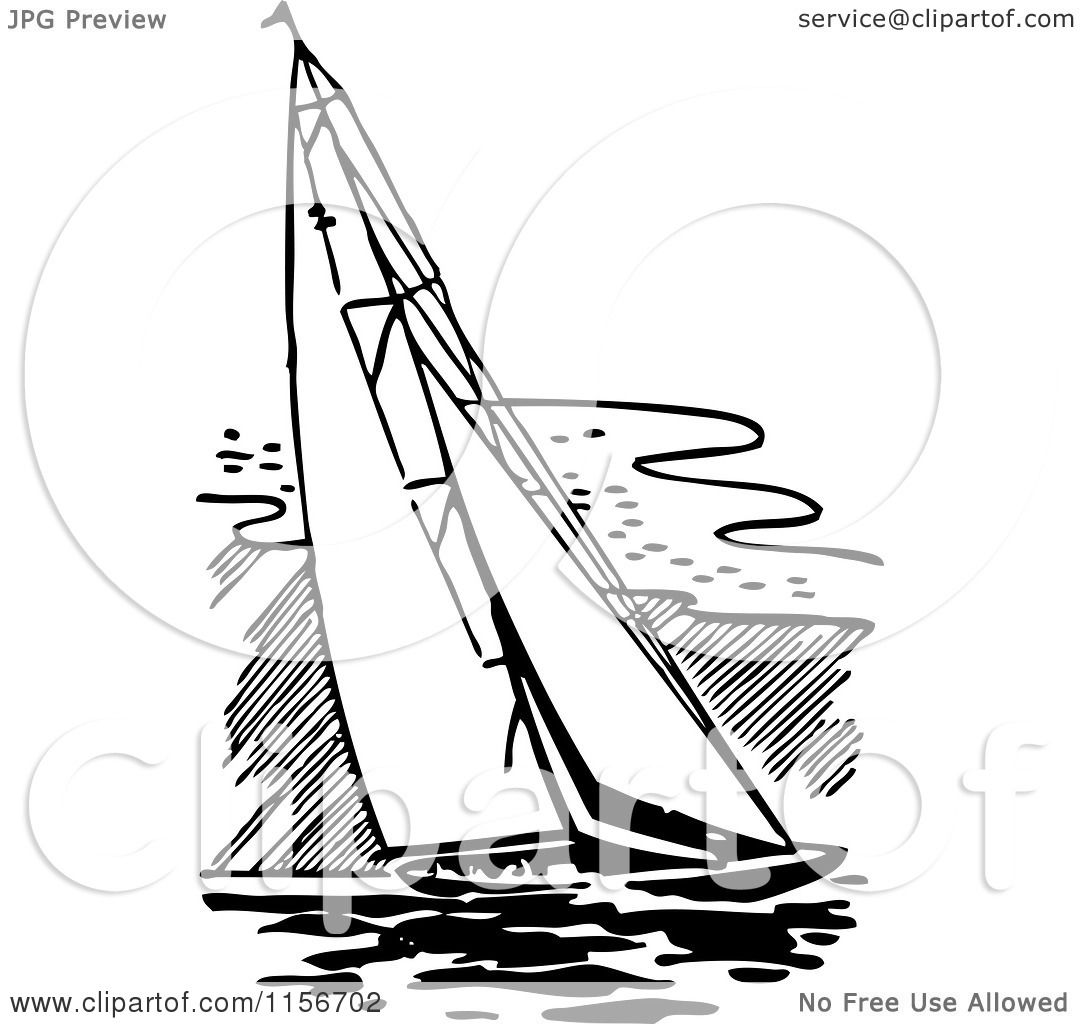 Sailing Boat Clipart White Retro Sailing Boat