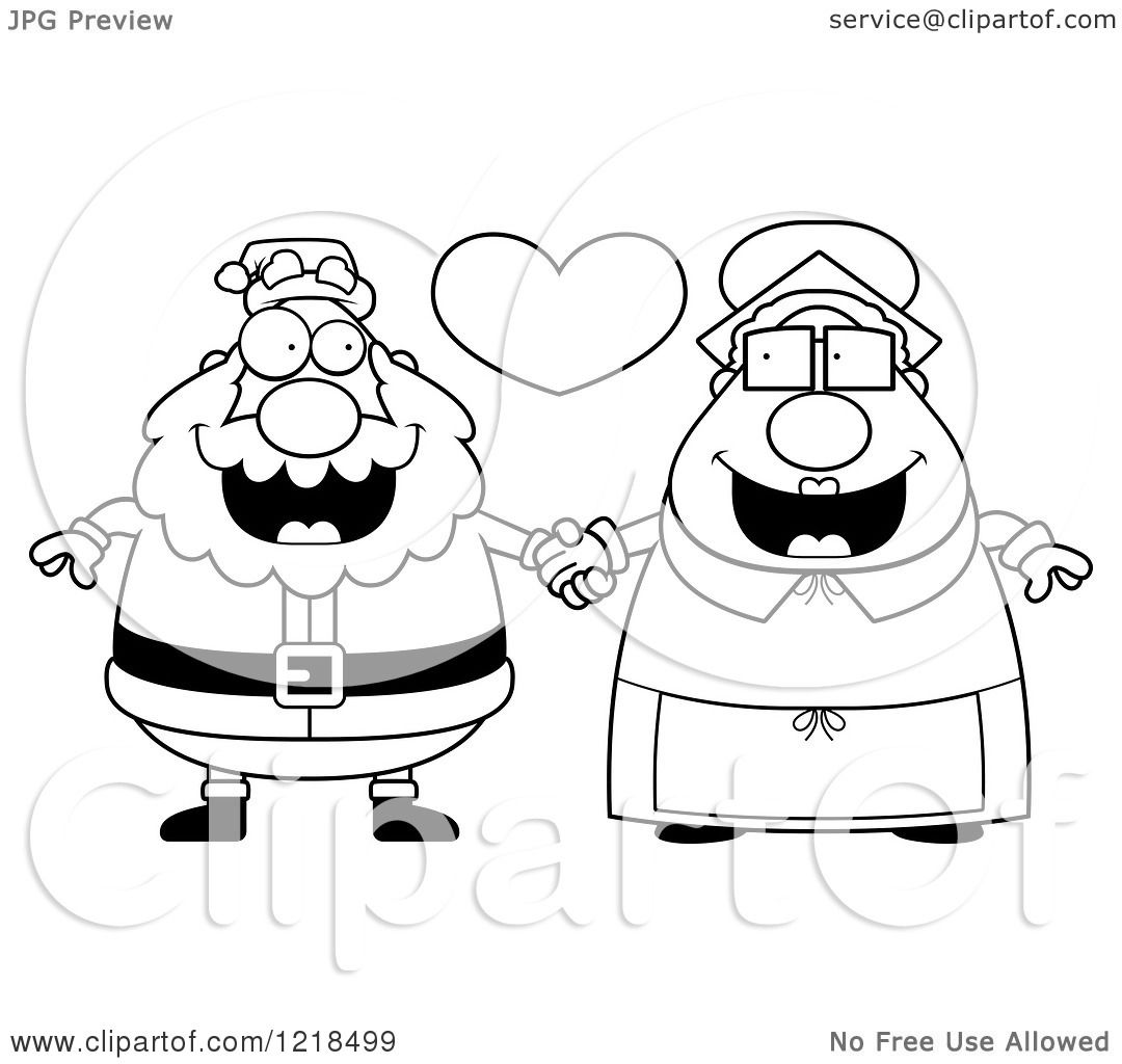royalty free rf clipart illustration of mrs claus by cory thoman