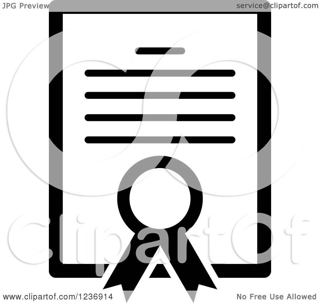 Clipart of a black and white security certificate icon royalty clipart of a black and white security certificate icon royalty free vector illustration by vector tradition sm xflitez Images
