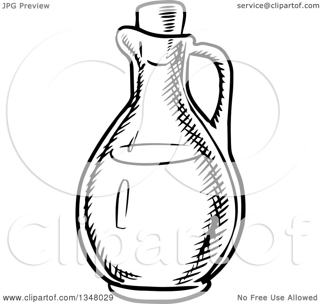 Clipart of a Black and White Sketched