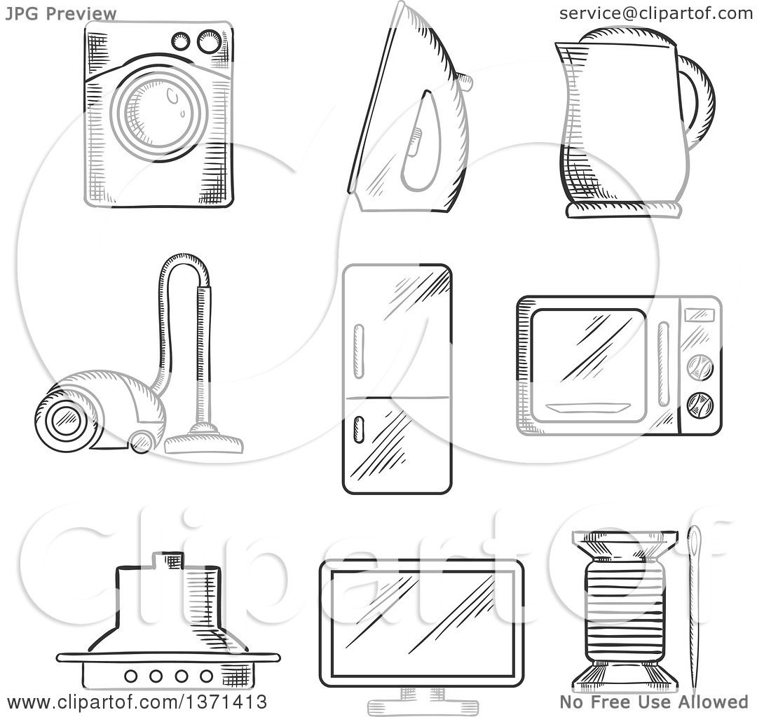 microwave cart coloring pages