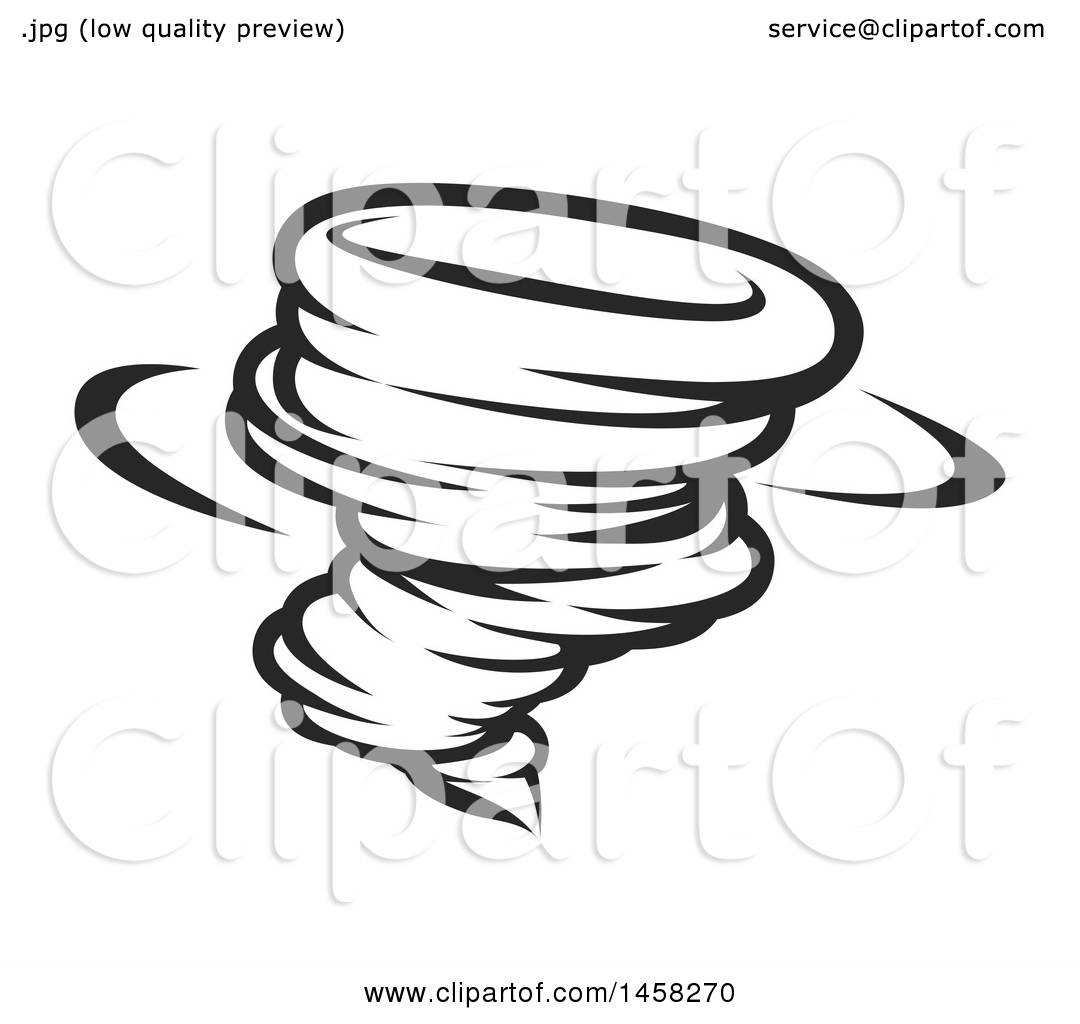 clipart of a black and white spinning tornado twister royalty free rh clipartof com Music Note Icon Music Notes Graphics