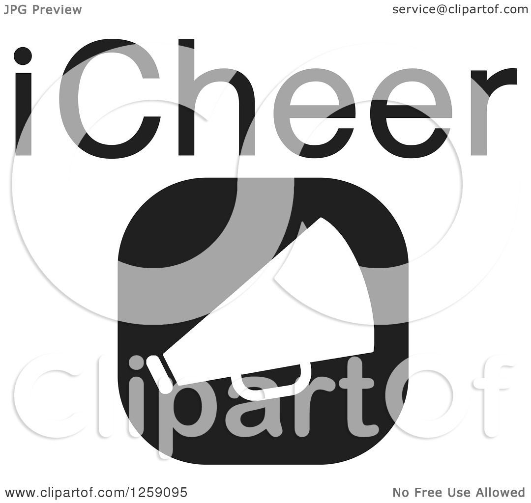 Megaphone Clipart Black And White Clipart of a Black And White