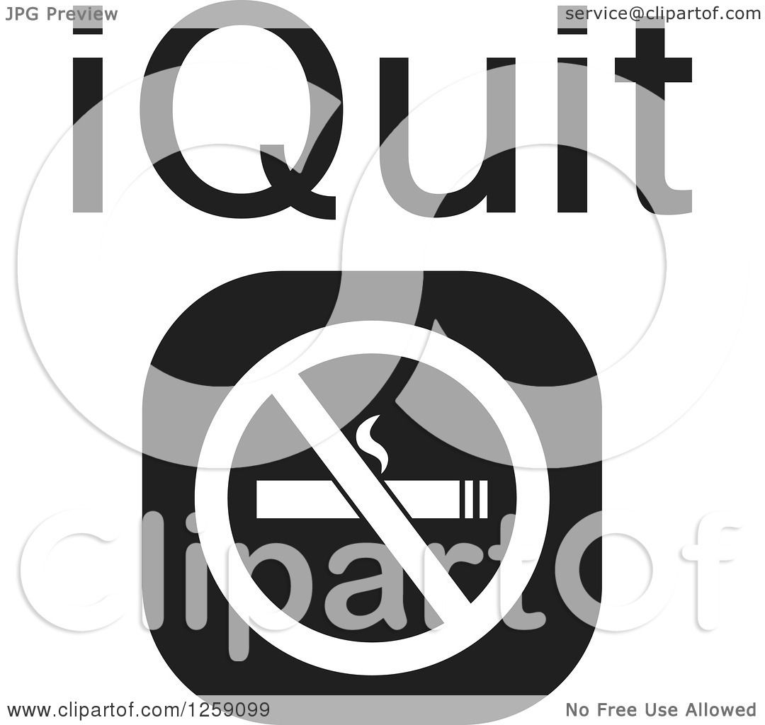 Clipart of a black and white square no smoking icon with for Free clipart no copyright