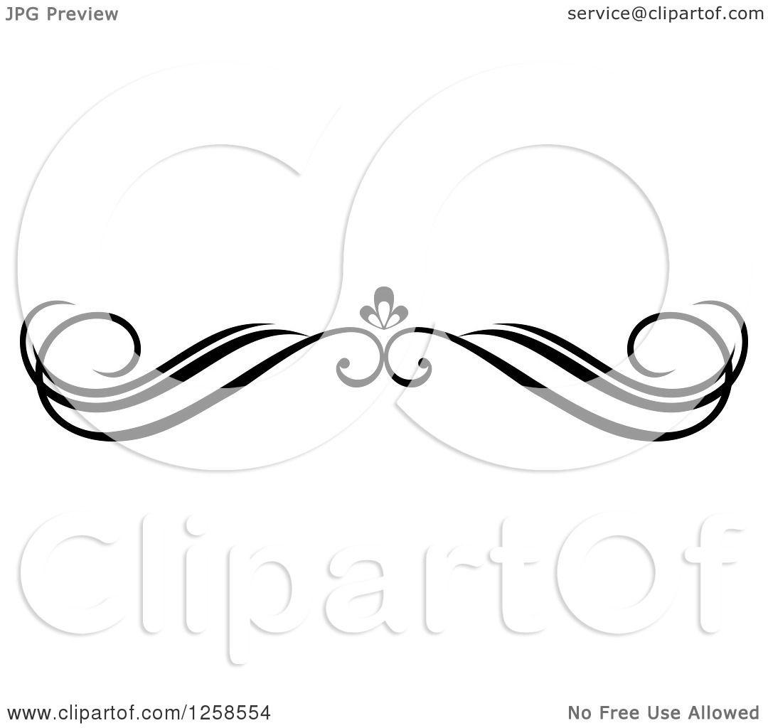 clipart of a black and white swirl rule divider border design rh clipartof com clip art divider line clip art dividers and lines