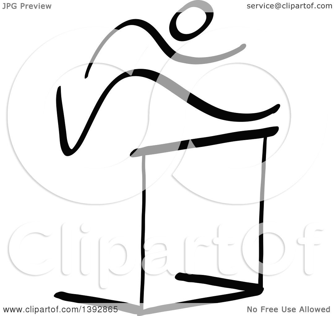 clipart of a black and white track and field stick man athlete rh clipartof com Track Hurdle Clip Art track hurdle clipart