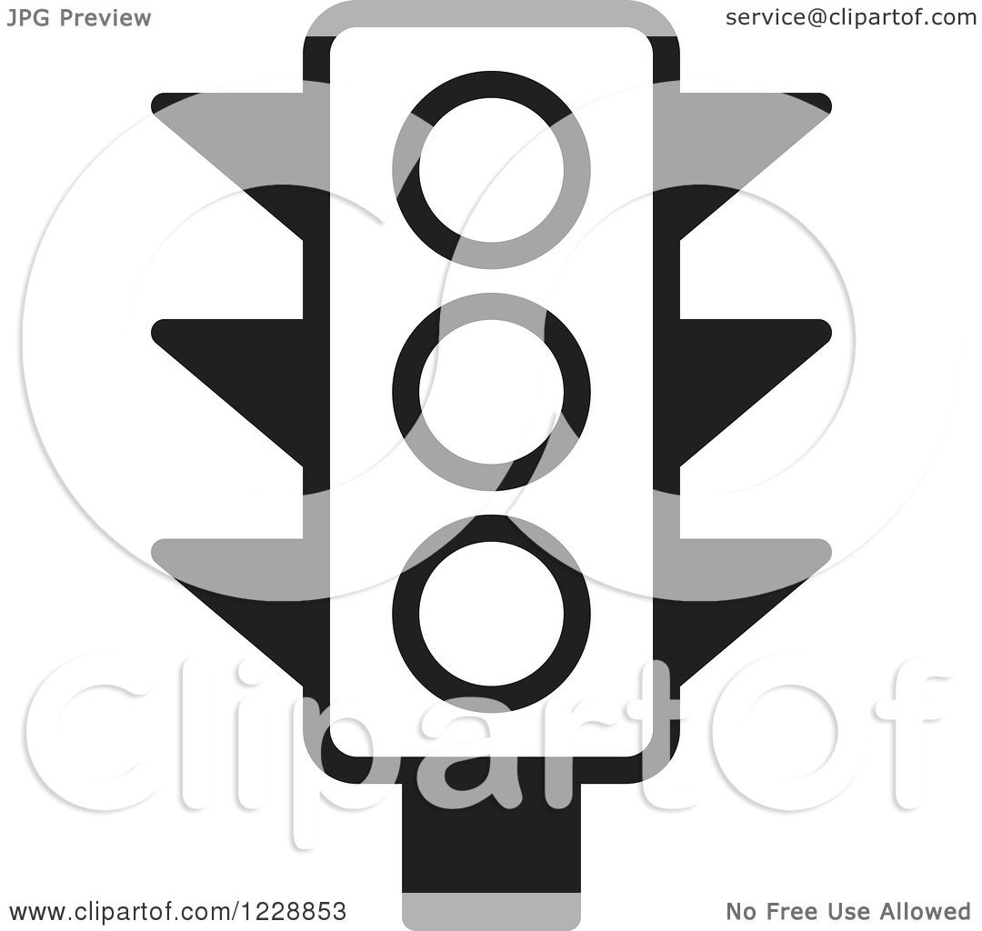 Clipart of a Black and White Traffic Light Icon - Royalty Free ... for stop light black and white  28cpg