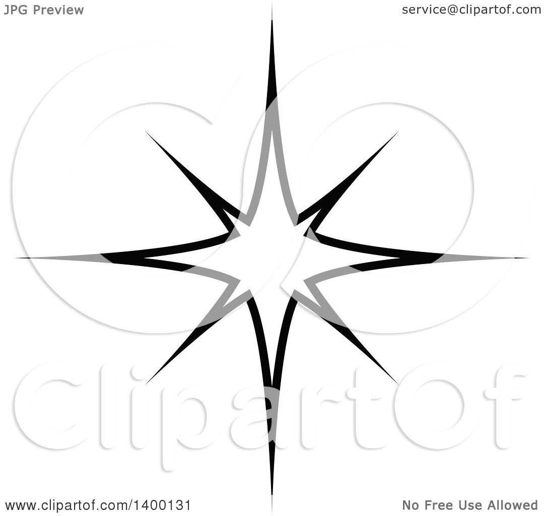 clipart of a black and white twinkling star royalty free vector rh clipartof com Pink Star Clip Art Star Cluster Clip Art
