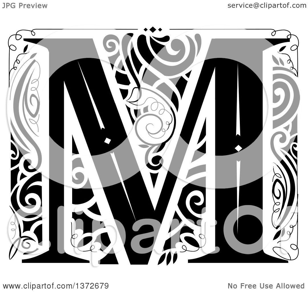 Letter M Monogram Clipart Monogram Fonts Alphabet Clipart