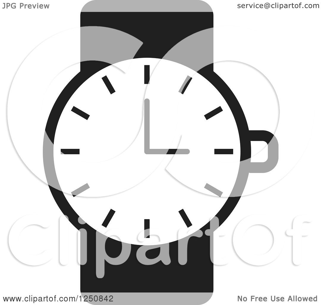 Clipart of a Black and White Wrist