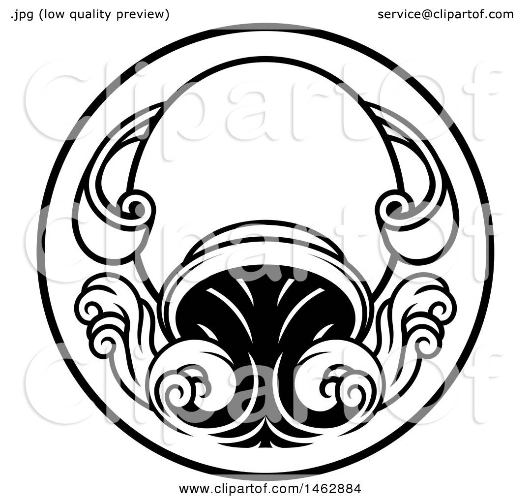 Clipart of a black and white zodiac horoscope astrology aquarius clipart of a black and white zodiac horoscope astrology aquarius circle design royalty free vector illustration by atstockillustration biocorpaavc Image collections