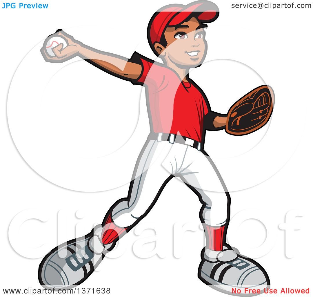 Retro Pitcher Throwing Baseball - Free Clipart