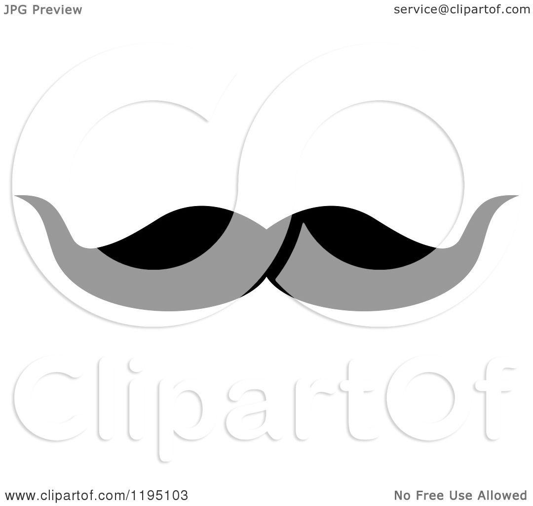 Funny Mustache Clip Art Clipart of a black moustache 4