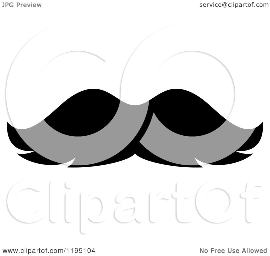 clipart of a black moustache 5 royalty free vector illustration by rh clipartof com