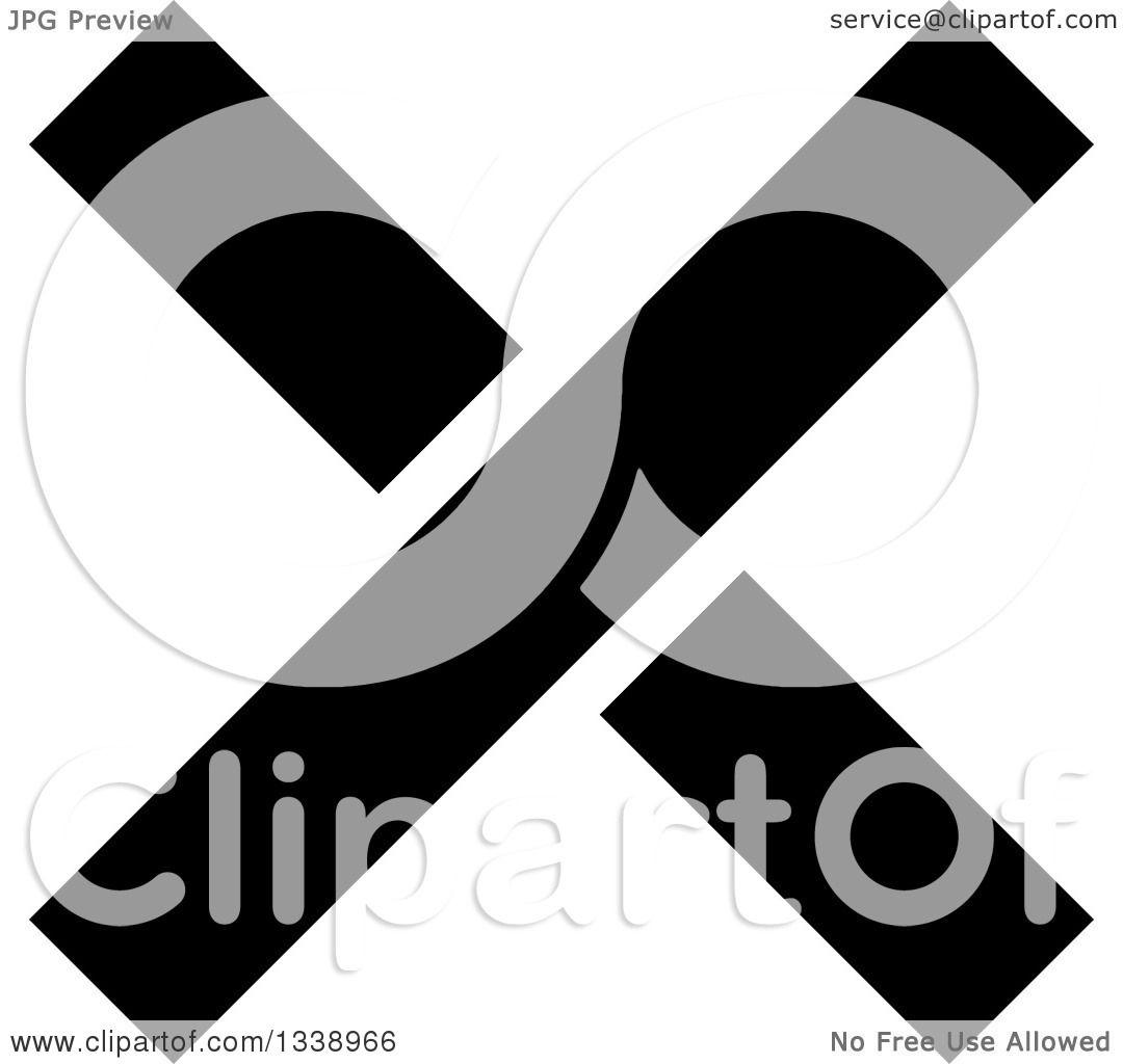 App Icon Design: Clipart Of A Black Negation X Mark App Icon Design Element
