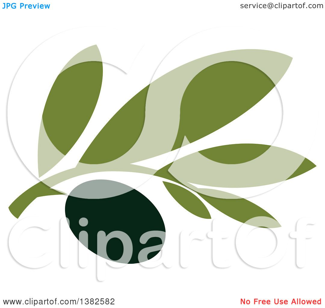 Clipart of a Black Olive Design - Royalty Free Vector Illustration ...
