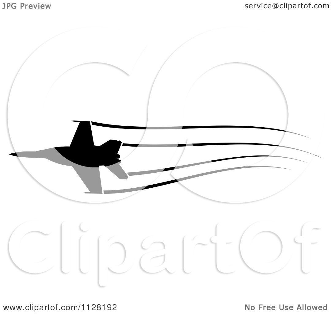 Airplane Vapor Trail Clip Art