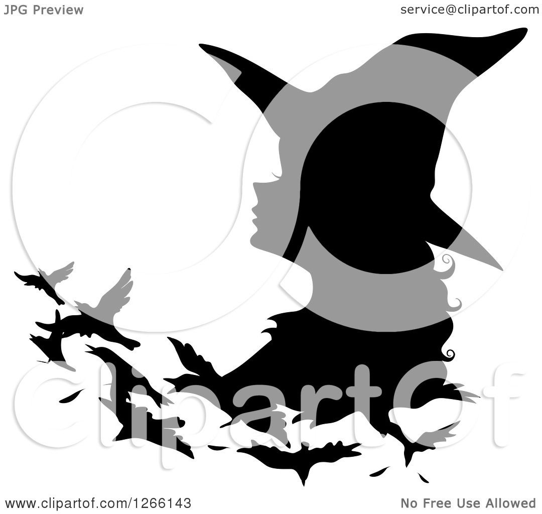 clipart of a black silhouetted witch changing into birds royalty rh clipartof com clipart of man clipart of hearts