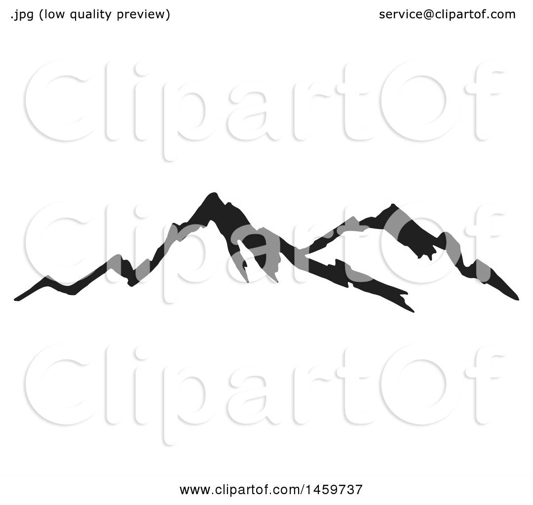 clipart of a black sketched mountain range royalty free vector rh clipartof com