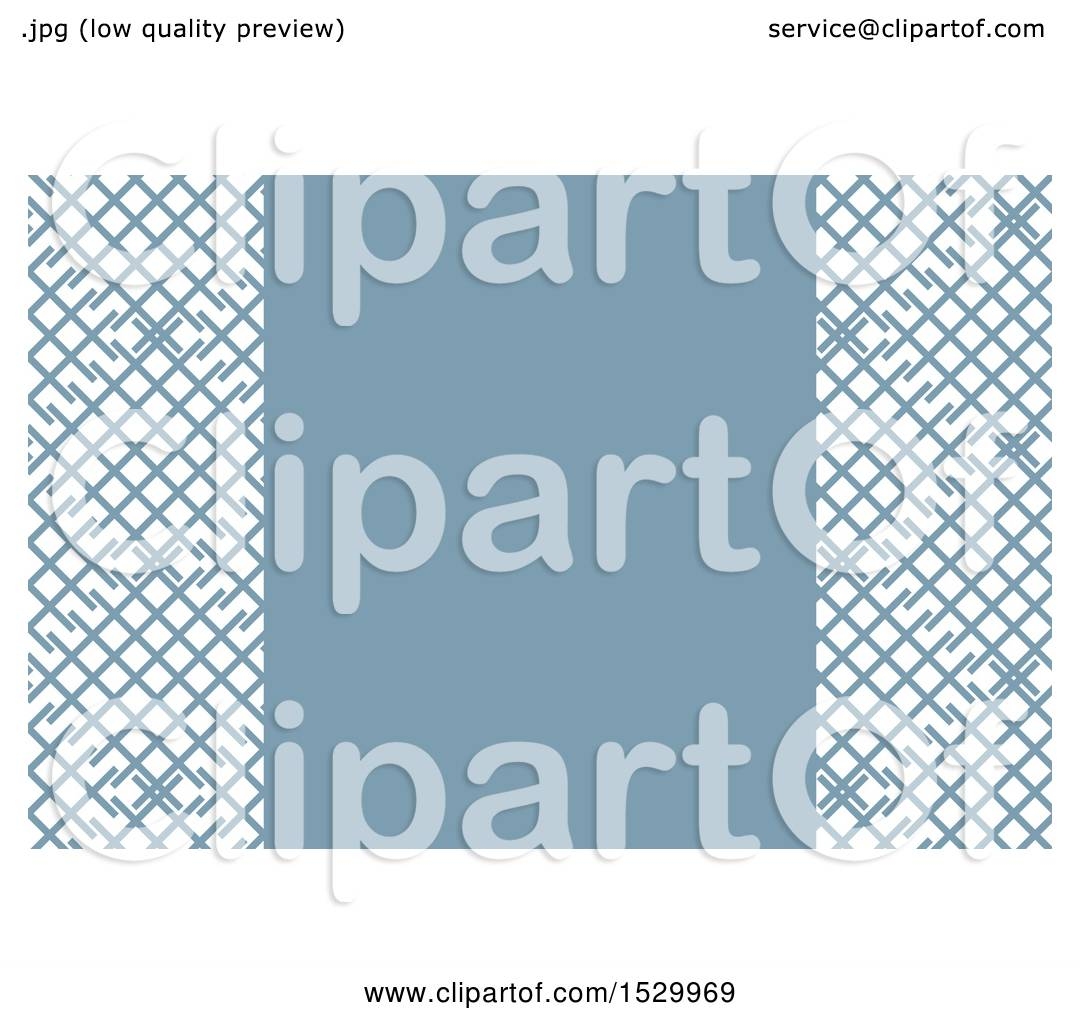 Clipart of a Blue and White Lattice Background or Business Card ...