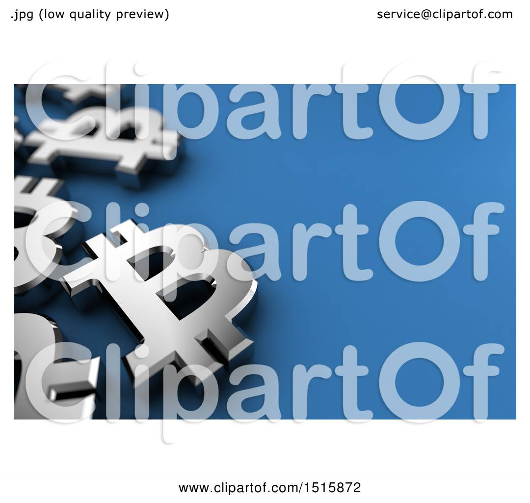 Clipart of a blue background with 3d silver bitcoin currency clipart of a blue background with 3d silver bitcoin currency symbols royalty free illustration by stockillustrations biocorpaavc Images