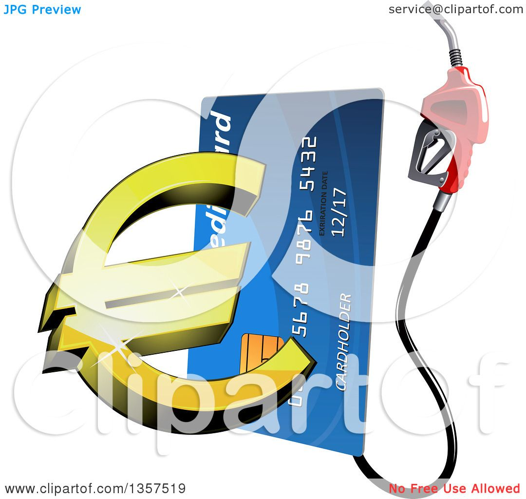 Clipart of a blue gas pump credit card with a 3d golden euro clipart of a blue gas pump credit card with a 3d golden euro currency symbol royalty free vector illustration by vector tradition sm biocorpaavc Images