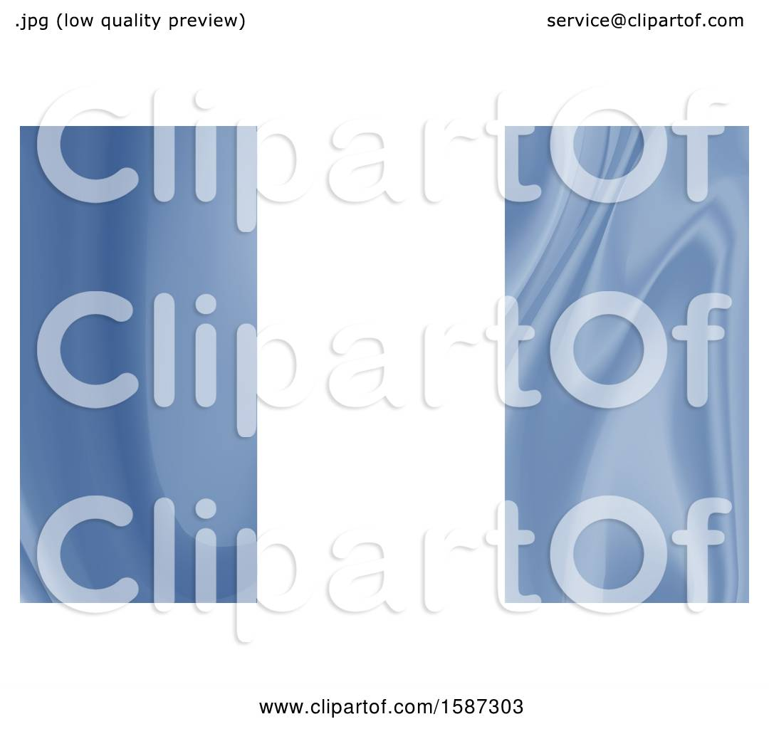 Clipart of a Blue Marble Business Card Background Design - Royalty ...