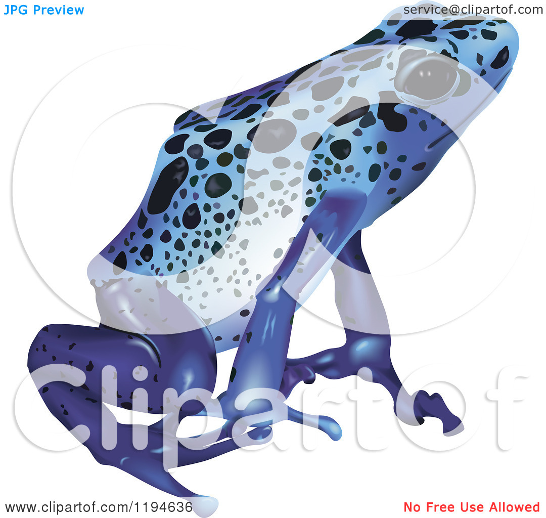 Clipart of a Blue Pois...