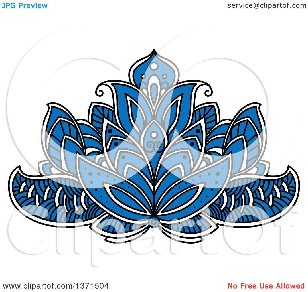 Clipart of a blue white and black henna lotus flower royalty free clipart of a blue white and black henna lotus flower royalty free vector illustration by vector tradition sm izmirmasajfo
