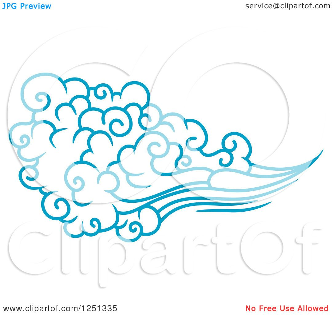 Clipart of a Blue Wind...