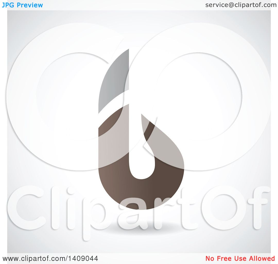 Clipart Of A Bold Lowercase Letter B Abstract Design Royalty Free