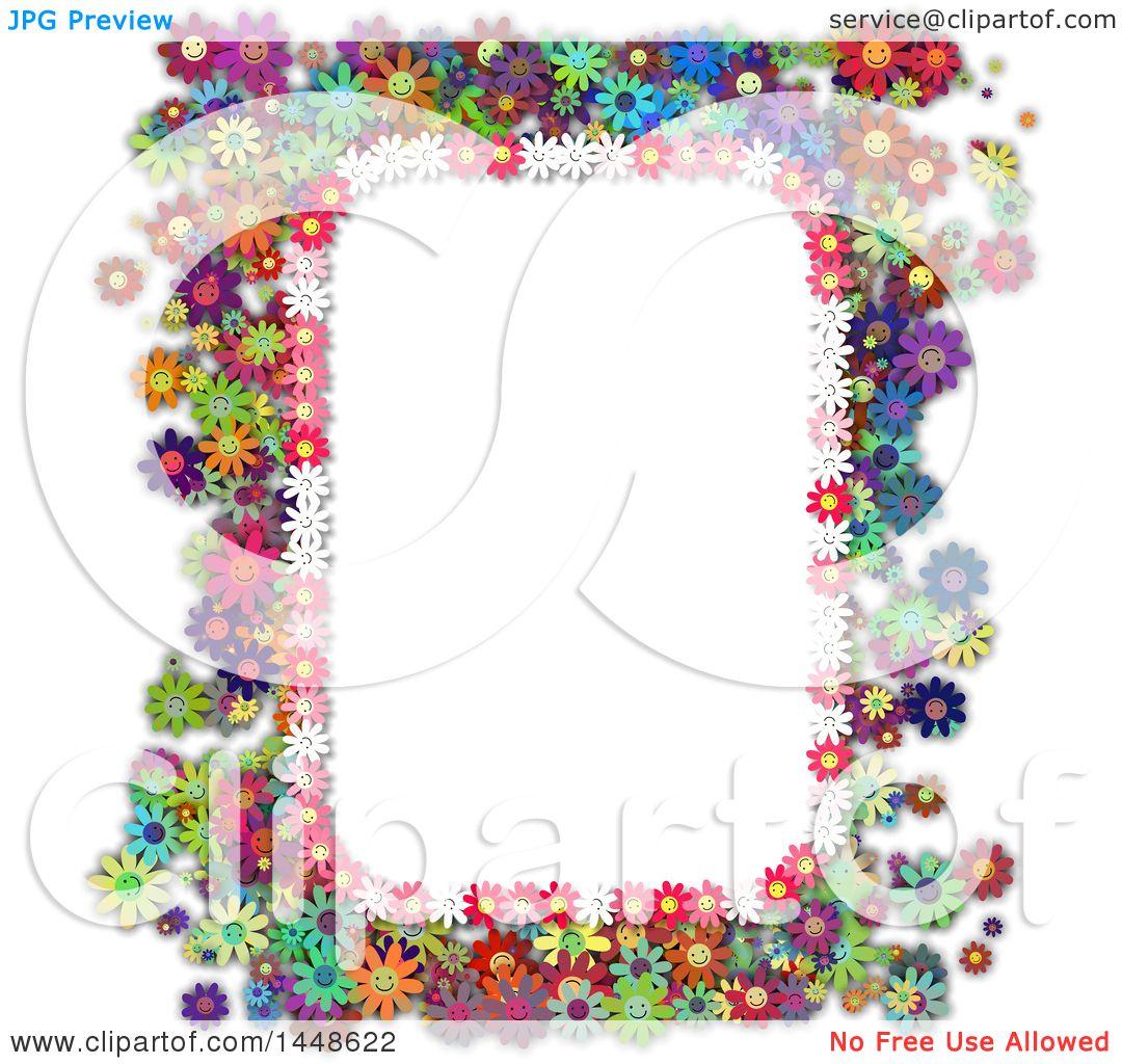 Clipart of a border frame of colorful daisy flowers royalty free clipart of a border frame of colorful daisy flowers royalty free illustration by prawny izmirmasajfo