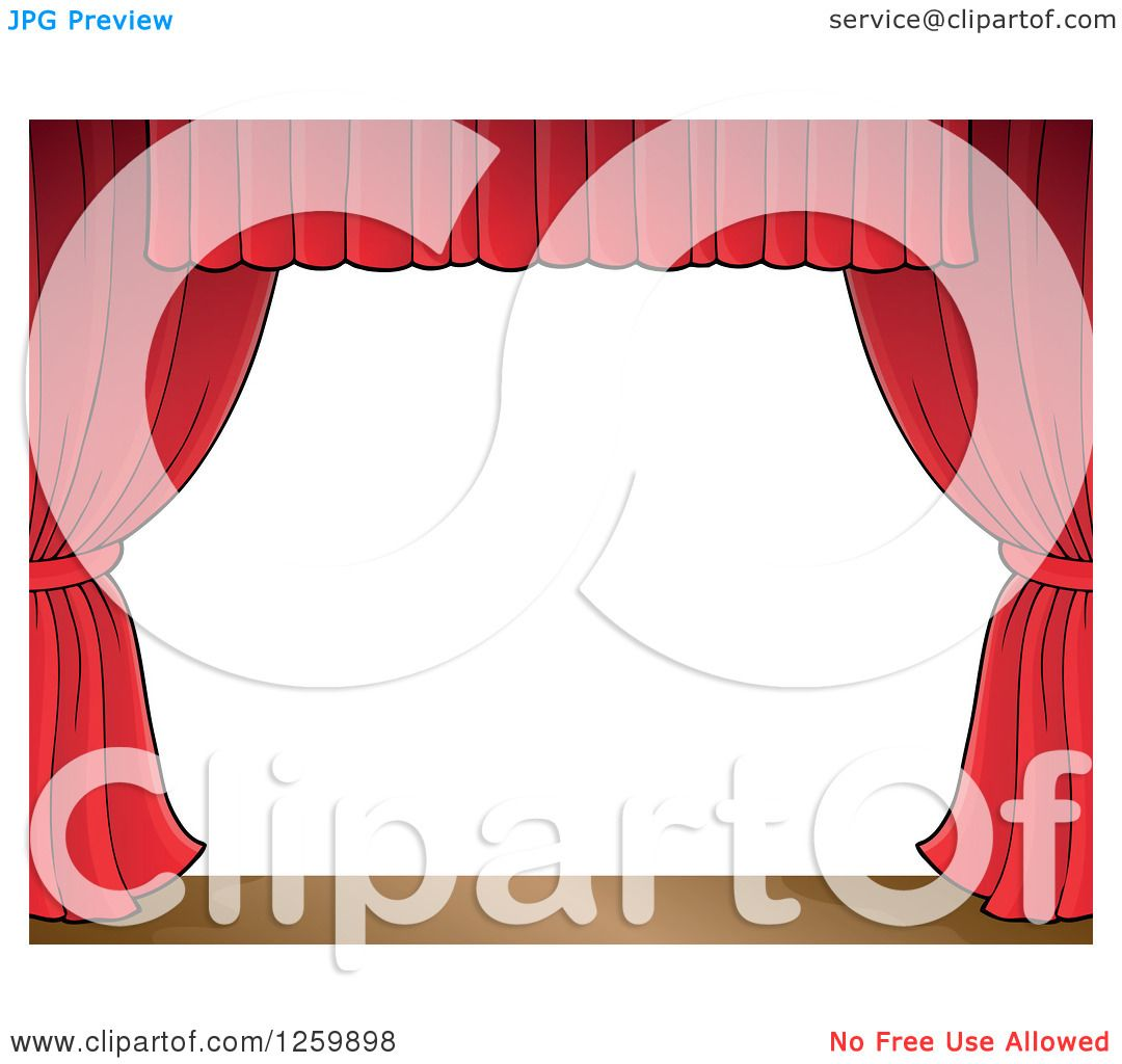 Free coloring pages of stage curtains - Clipart Of A Border Of A Stage And Red Curtains Royalty Free Vector Illustration By Visekart