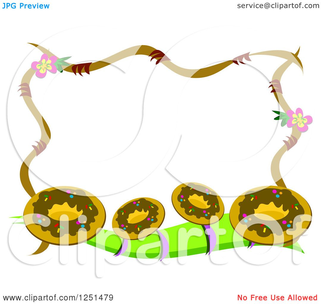 Clipart of a Border of Donuts - Royalty Free Vector Illustration by ...