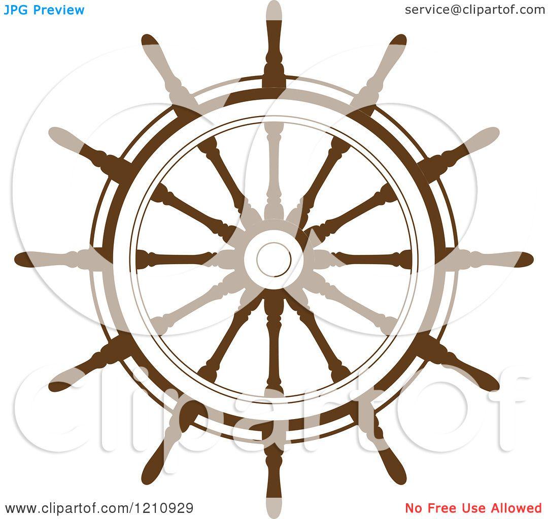 Pirate Ship Steering Wheel Brown Ship Steering Wheel