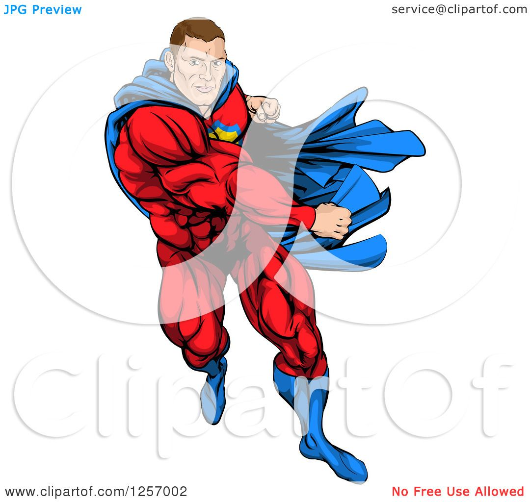 Clipart of a cacuasian muscular super hero man running and punching clipart of a cacuasian muscular super hero man running and punching royalty free vector illustration by atstockillustration buycottarizona Image collections