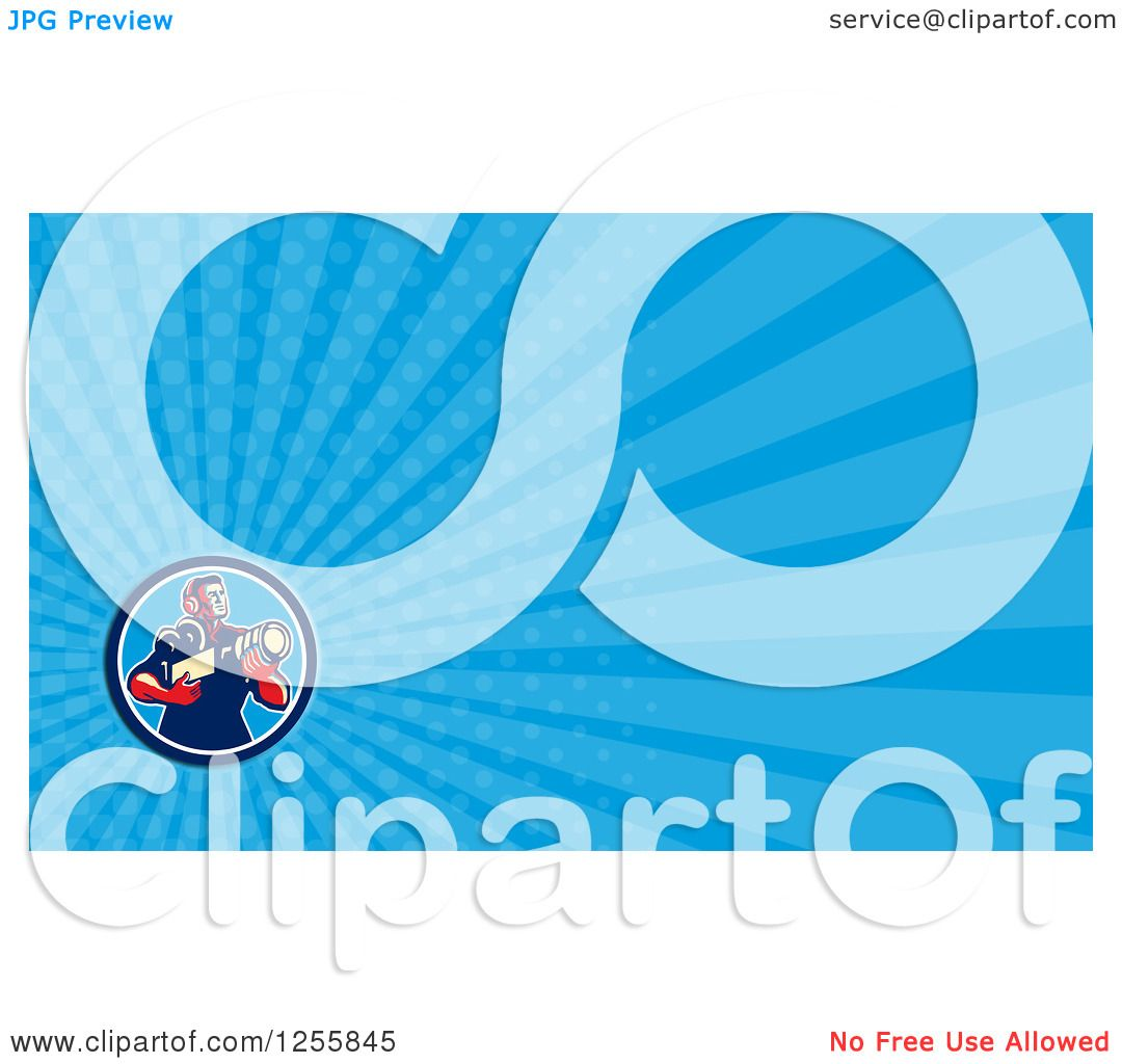 Clipart of a Cameraman Business Card Design - Royalty Free ...