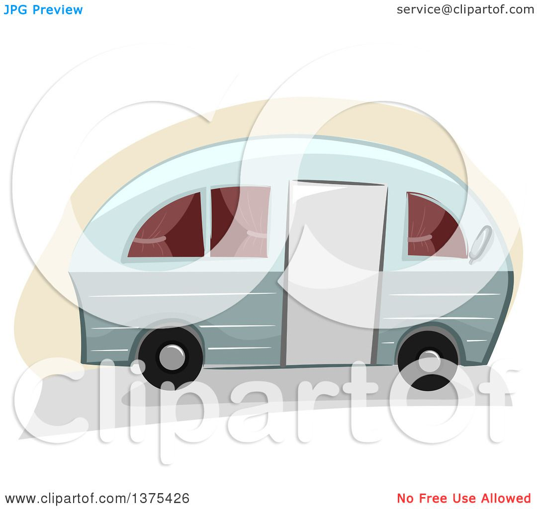 Clipart Of A Camper Trailer