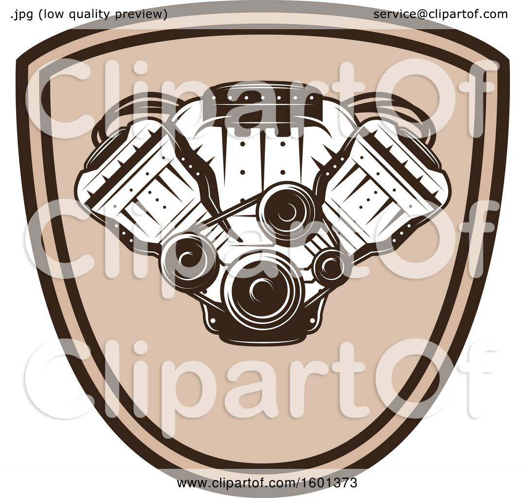 Clipart Of A Car Engine Design Royalty Free Vector Illustration By